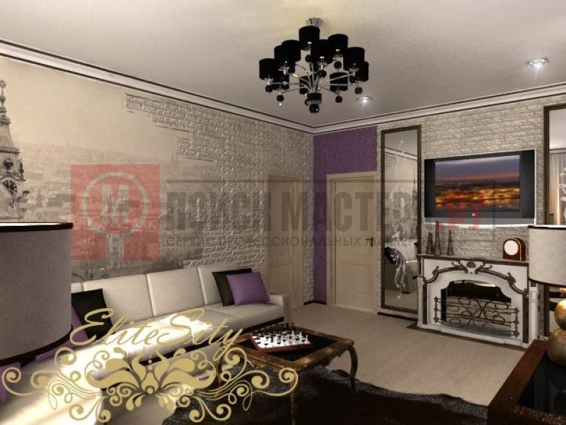 Дизайн холла с камином в частном доме фото