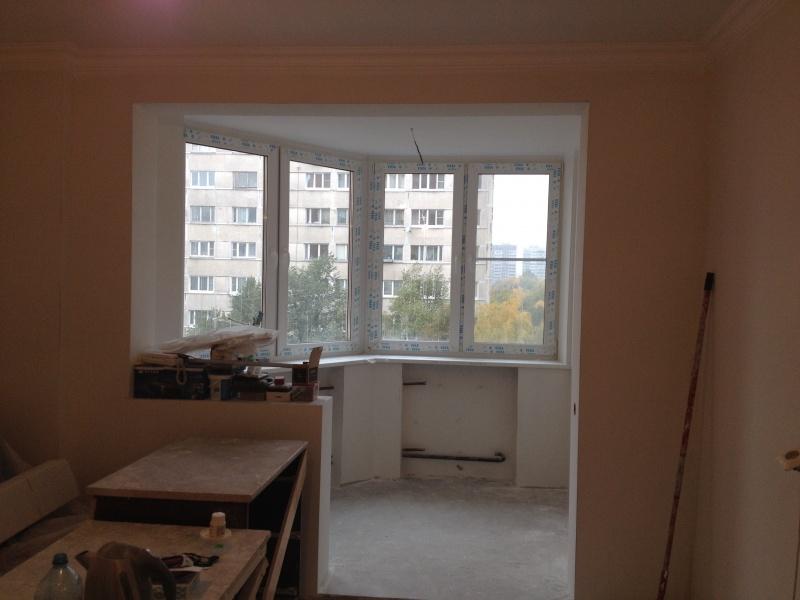 Совмещение балкона с комнатой фото - альбом мастера кочетков.