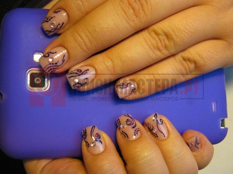 Фото ногтей гель лак на маленькие ногти