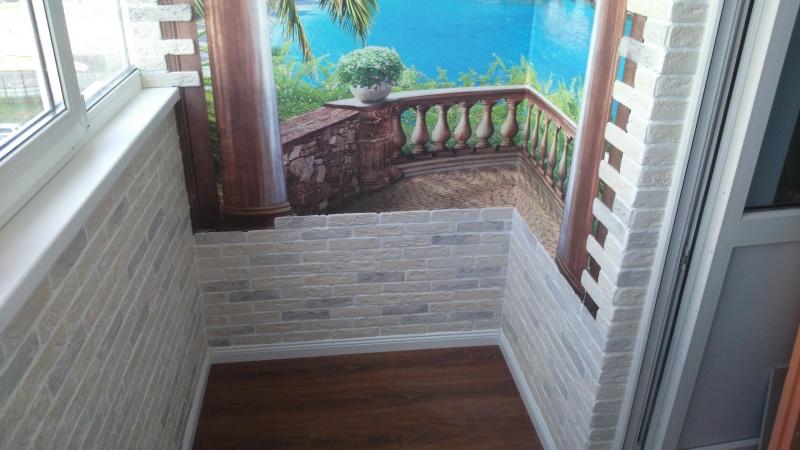 Утепление балкона и отделка декоративным камнем фото - альбо.