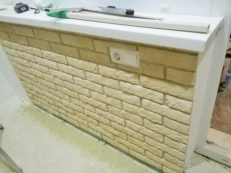 Утепление и отделка балкона плиткой под камень. фото - альбо.