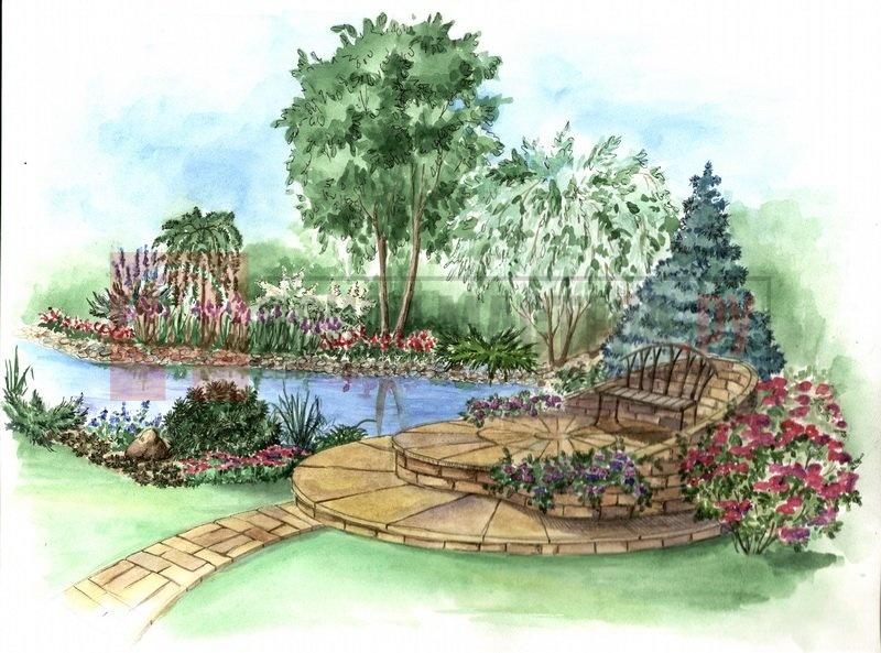Рисунки ландшафтного дизайна