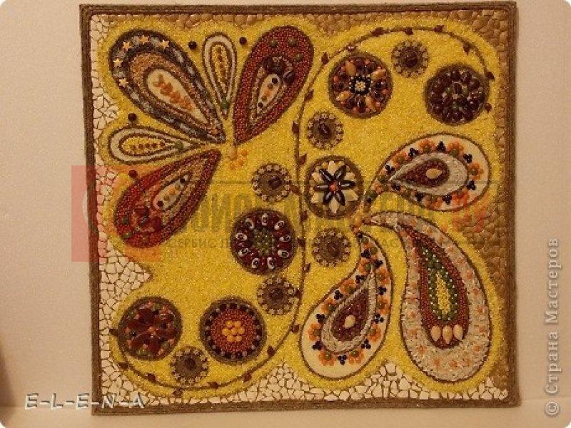Картина из семян и круп