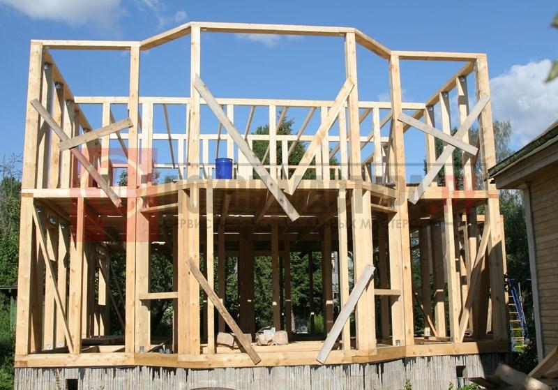 Строительство каркасного дома 8х10 своими руками 41