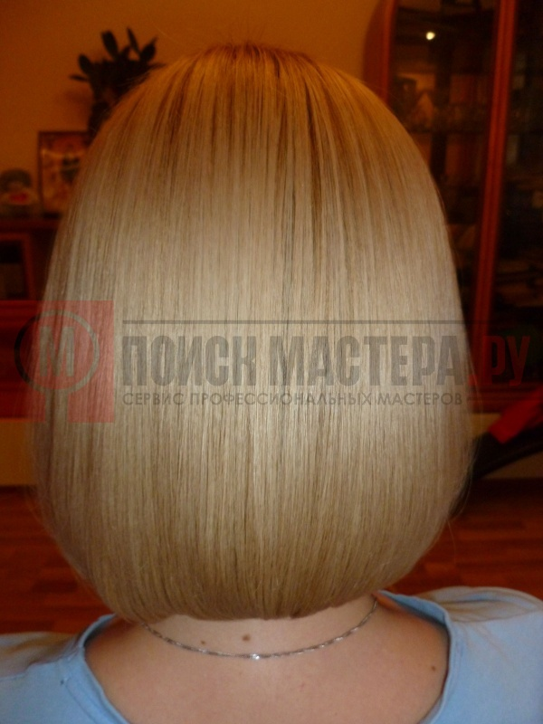 Делают ли кератиновое выпрямление на короткие волосы фото