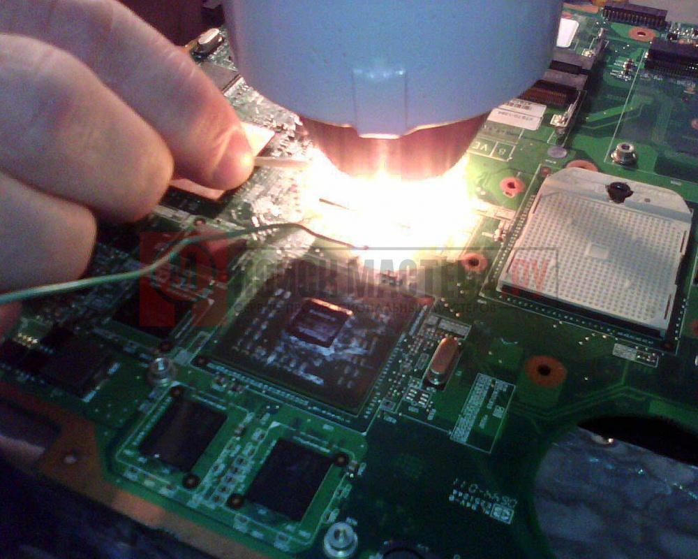 Материнская плата ноутбука ремонт своими руками