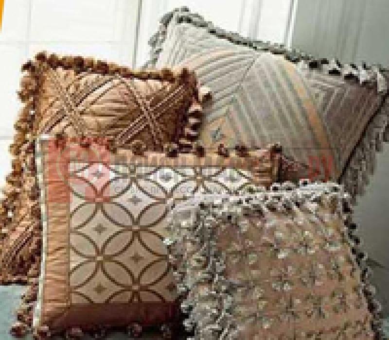 Как сшить подушку с бахромой 35