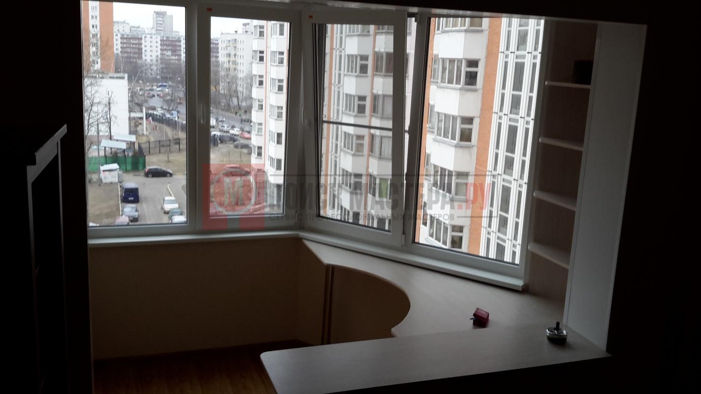 Угловой стол и полка на балконе дом проекта п44т фото - альб.