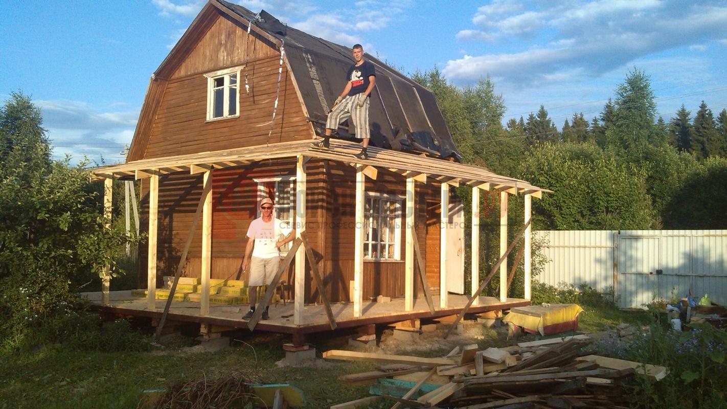 Как расширить дом-дачу своими руками