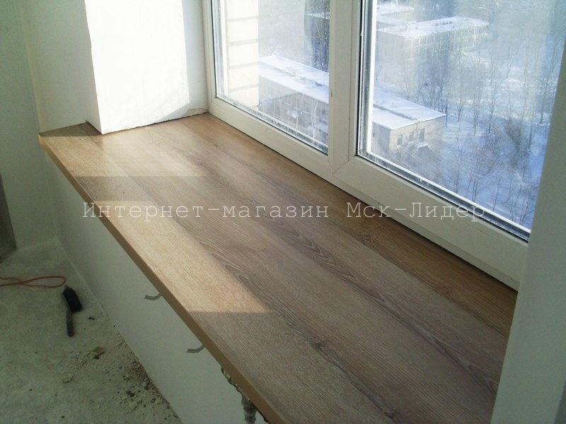 Изготовление подоконников из дерева - дуб, Ясень фото - альб.