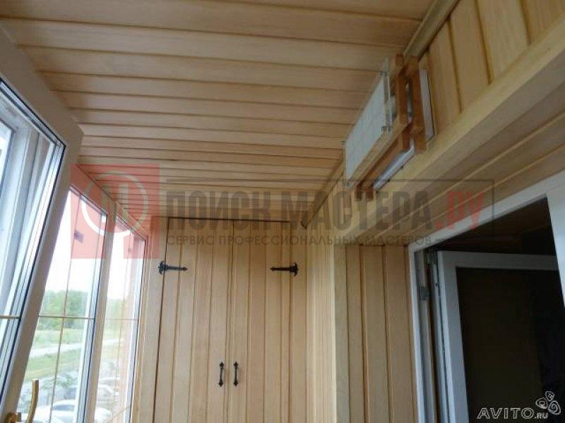 Отделка балконов евровагонкой фото 7