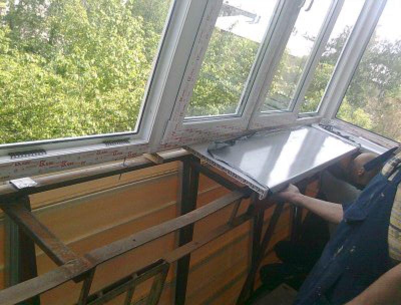 Балкон с выносом отделка своими руками - остекление балконов.